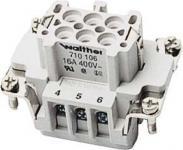 WALTHER Buchseneinsatz IndStVb Procon B6P, 0,5-2,5qmm # 710106